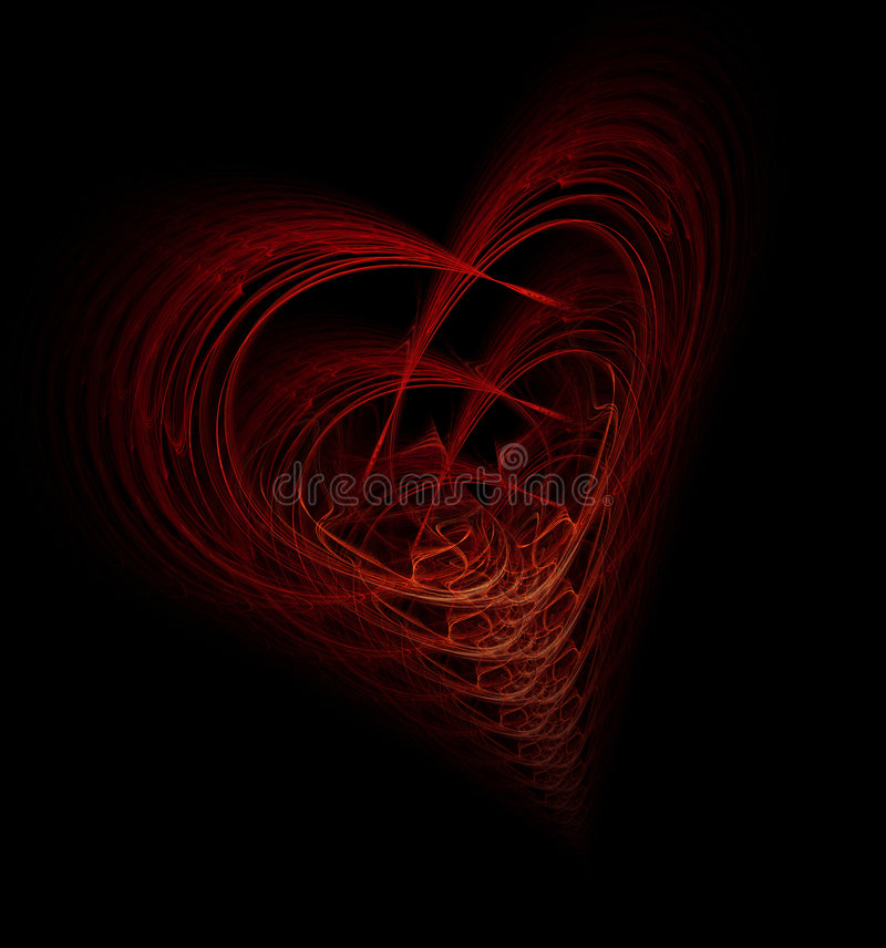 Complicated Heart stock image