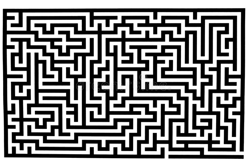 Complicated labyrinth stock illustration