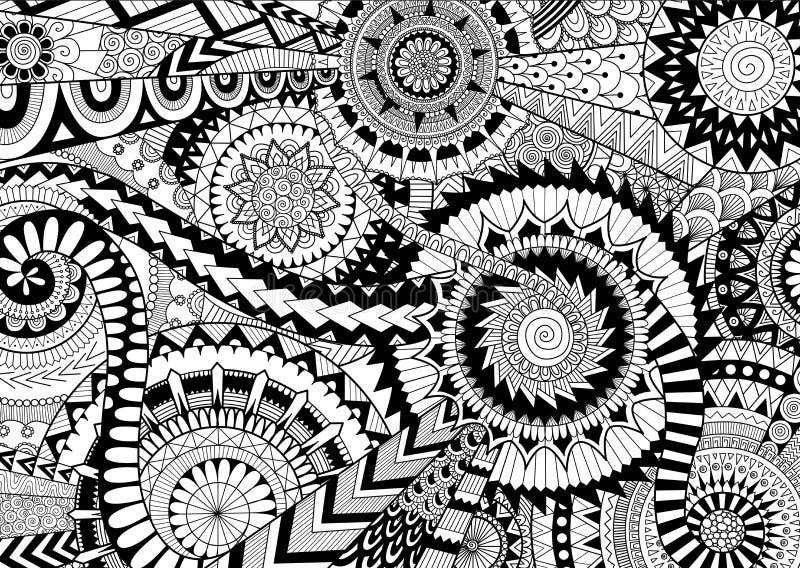 complicated mandalas stock vector illustration of mosaic 74195250. Black Bedroom Furniture Sets. Home Design Ideas