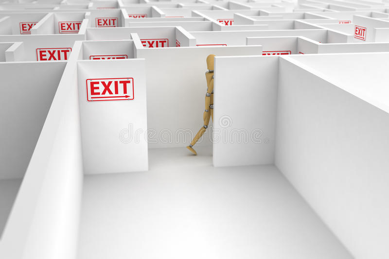 Complicated way out stock illustration