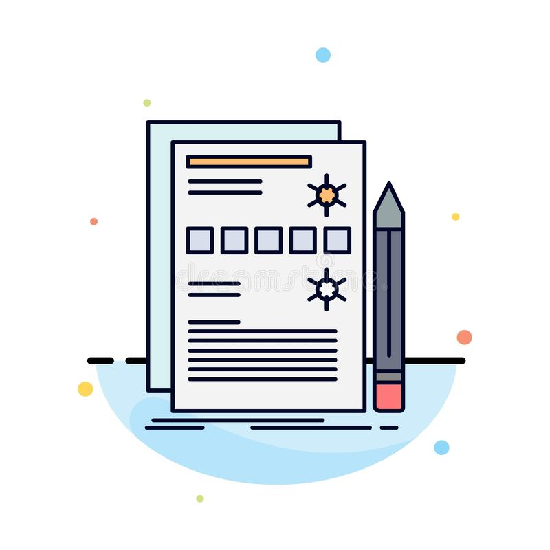 Component, data, design, hardware, system Flat Color Icon Vector royalty free illustration