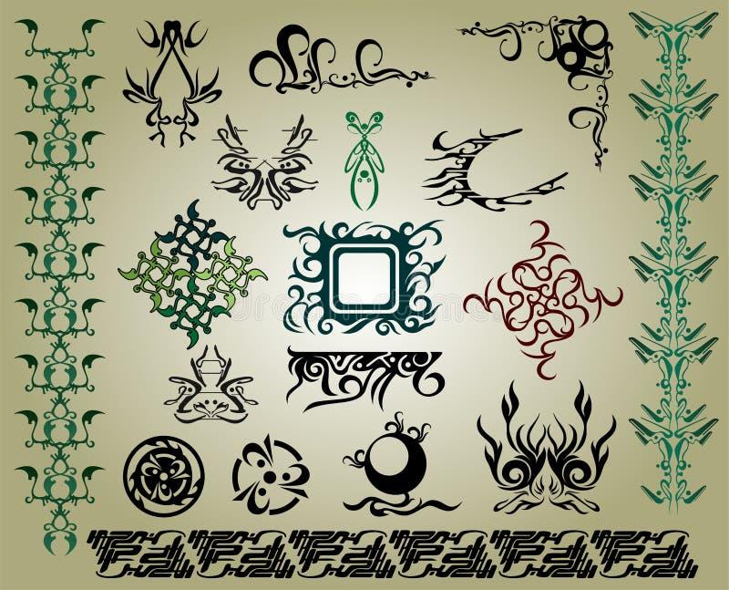 Component design & tribals stock illustration