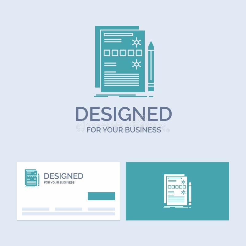 Componente, datos, diseño, hardware, negocio Logo Glyph Icon Symbol del sistema para su negocio Tarjetas de visita de la turquesa libre illustration