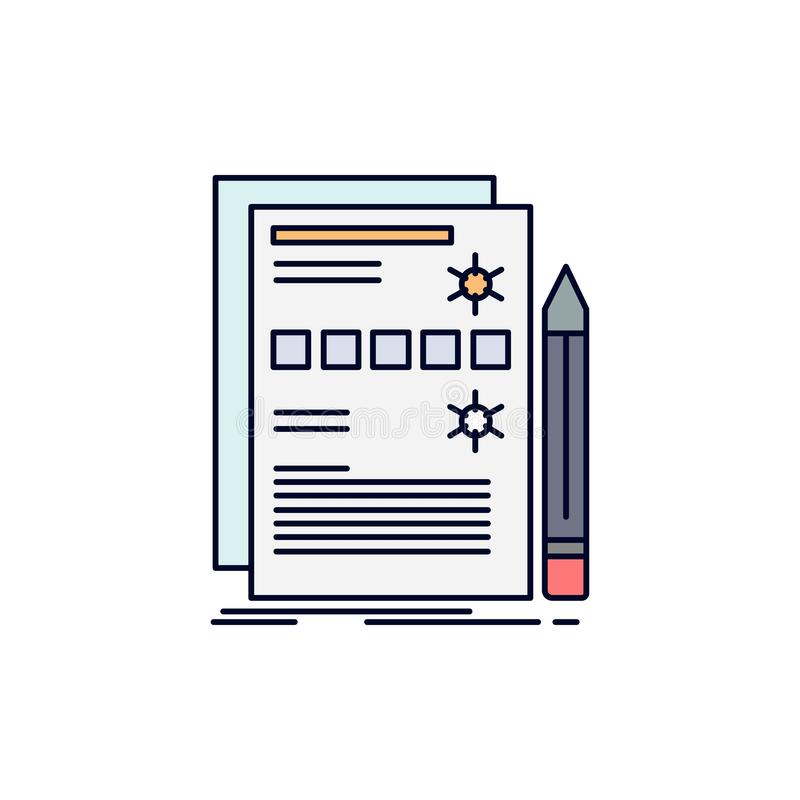 Componente, datos, diseño, hardware, vector plano del icono del color del sistema ilustración del vector
