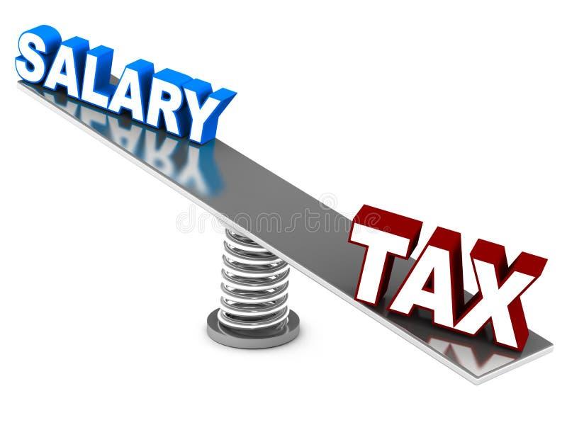 Componente do imposto ilustração stock