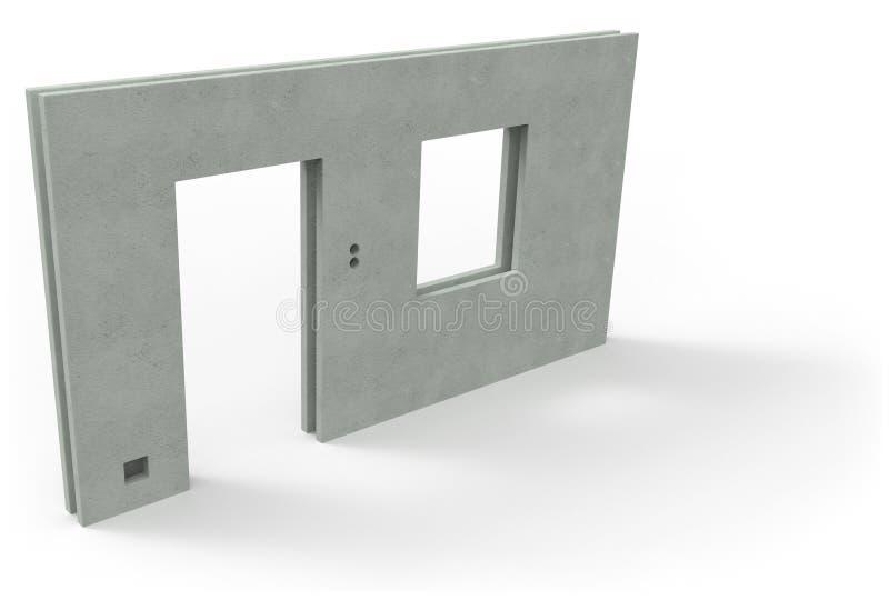 Componente pré-fabricado da casa imagem de stock royalty free