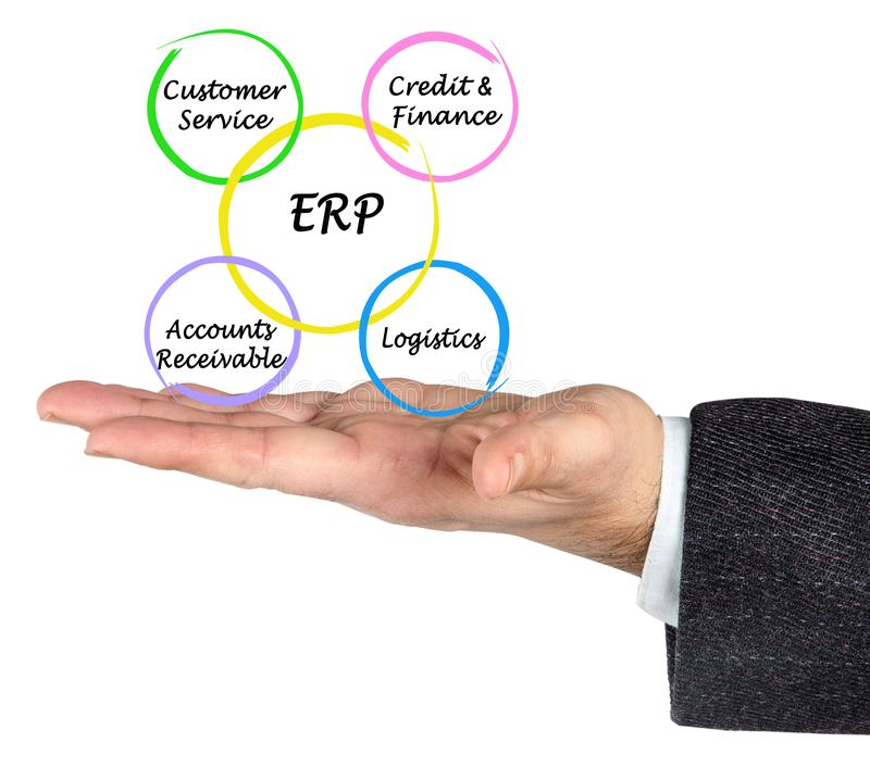 Componenten van ERP royalty-vrije stock afbeeldingen