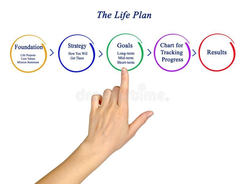 Componenten van het Levensplan royalty-vrije stock fotografie