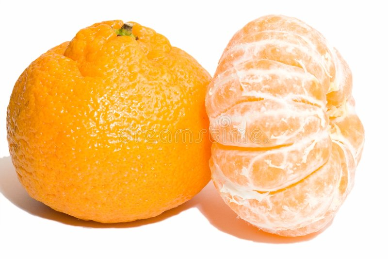 Componentes de la mandarina fotos de archivo