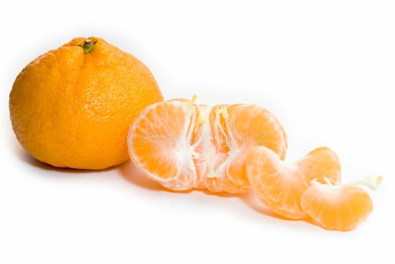 Componentes de la mandarina foto de archivo