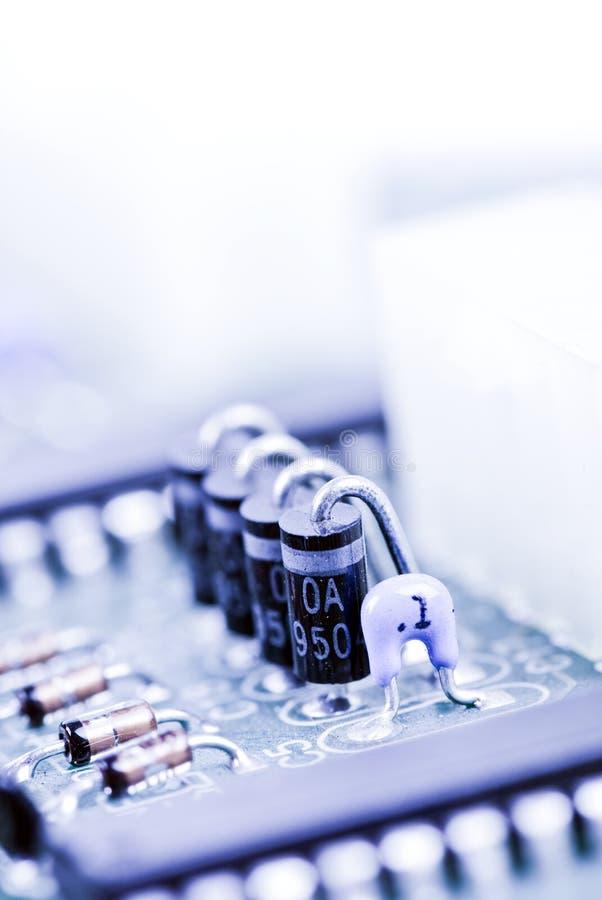 Componentes do semicondutor fotografia de stock