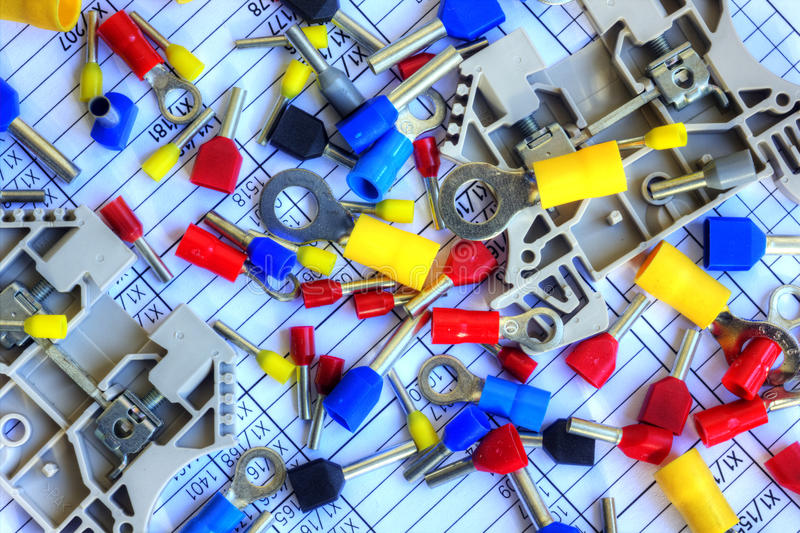 Componentes eléctricos foto de archivo