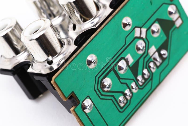 Componentes electrónicos imagen de archivo libre de regalías