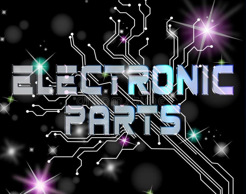 Componentes electrónicos que indican al técnico Processors And Processor libre illustration