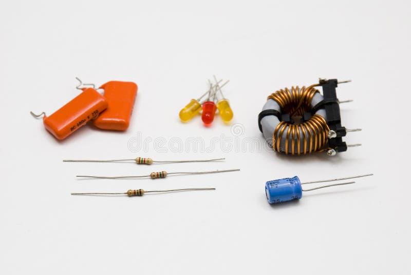 Componentes eletrônicos fotografia de stock royalty free