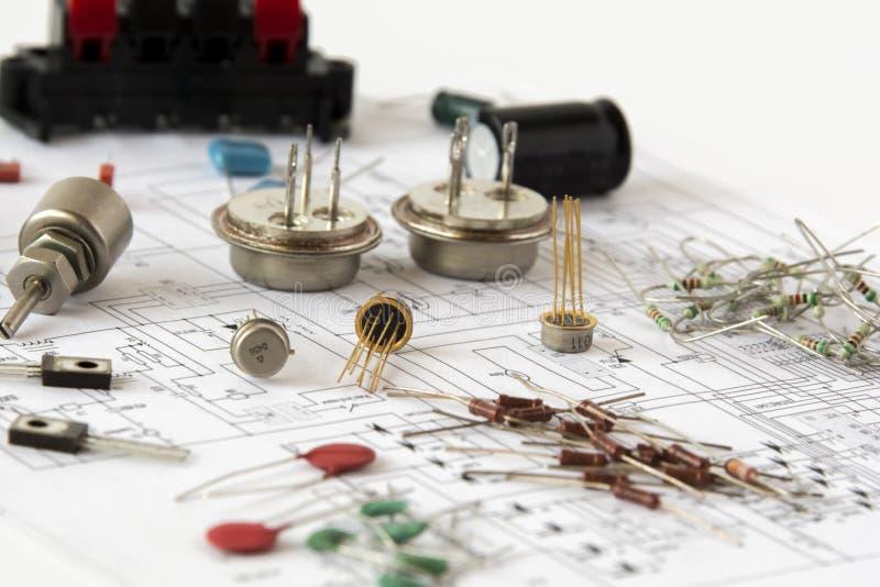 Componentes eletrônicos imagens de stock