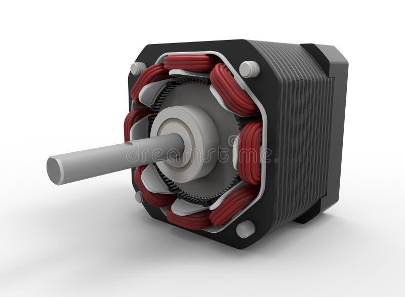 Componentes internos de motor deslizante ilustração do vetor