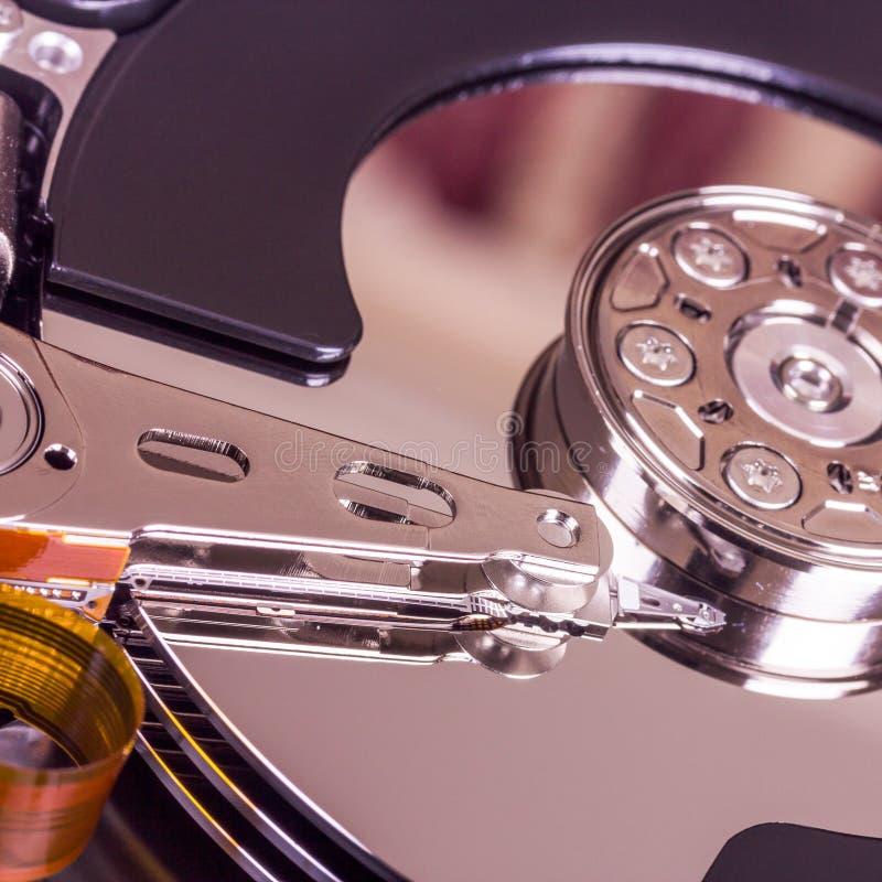 Componentes internos de movimentação de disco rígido fotos de stock royalty free