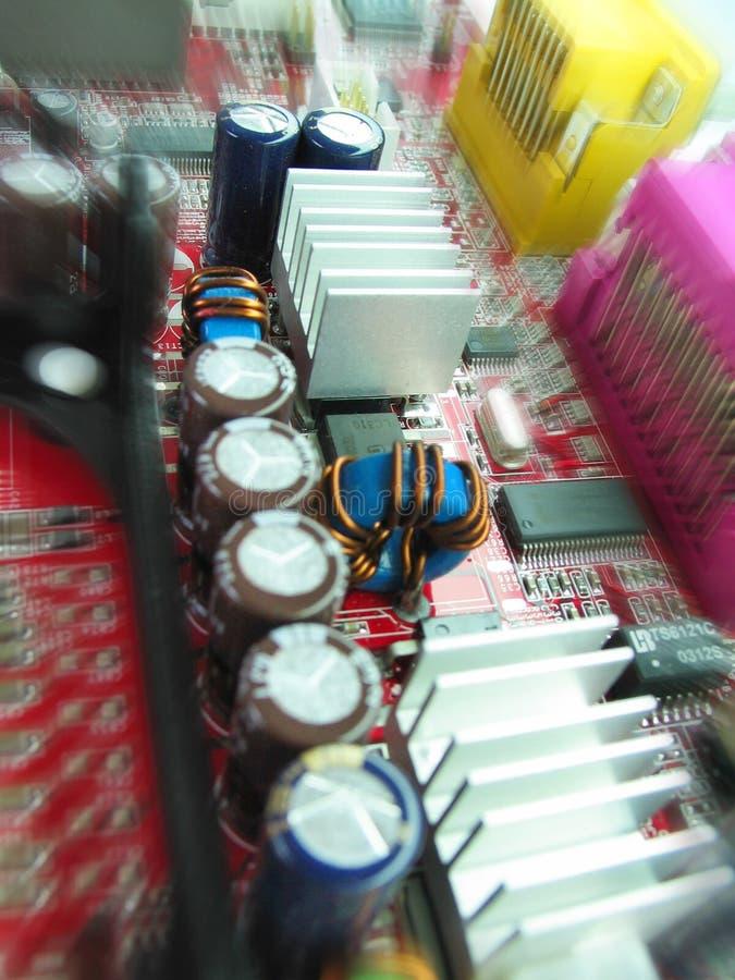 Componentes no cartão-matriz fotos de stock
