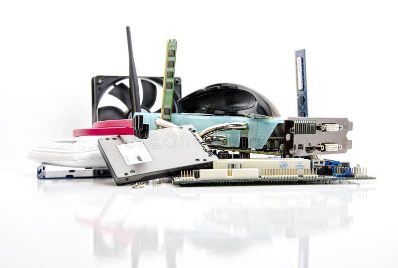Componenti di computer fotografia stock libera da diritti
