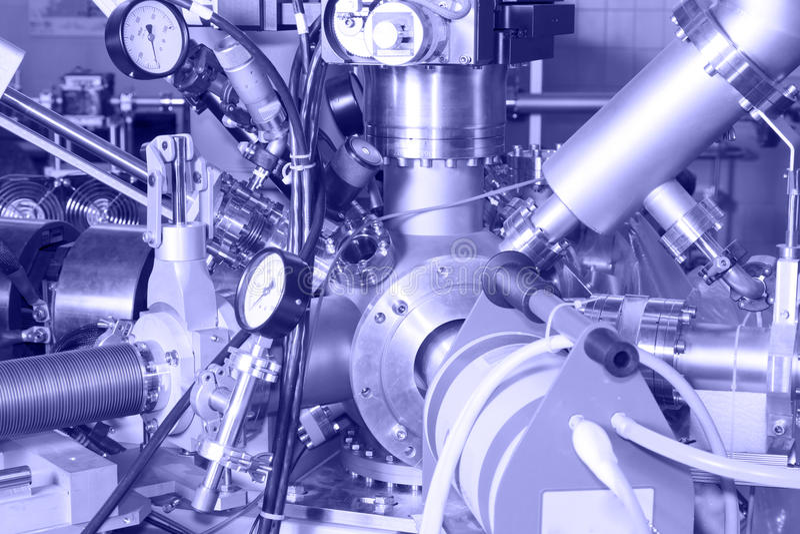 Componenti elettroniche dell'acceleratore di IONE fotografia stock