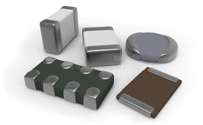 Componenti elettronici di SMD royalty illustrazione gratis
