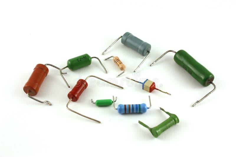 Componenti elettronici - resistori fotografia stock
