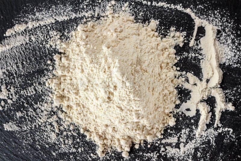 Componenti per produrre pane a casa La composizione degli alimenti Alimenti bassi del carboidrato immagini stock