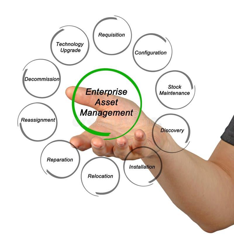 Enterprise Asset Management. Components of Enterprise Asset Management royalty free stock image