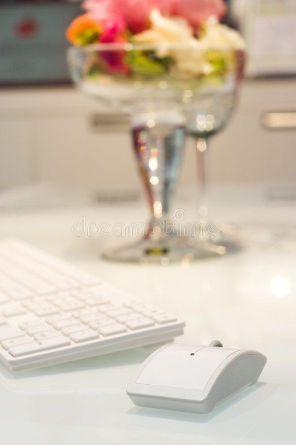 Components Of A Personal Computer: Mouse, Keyboard Stock Photography