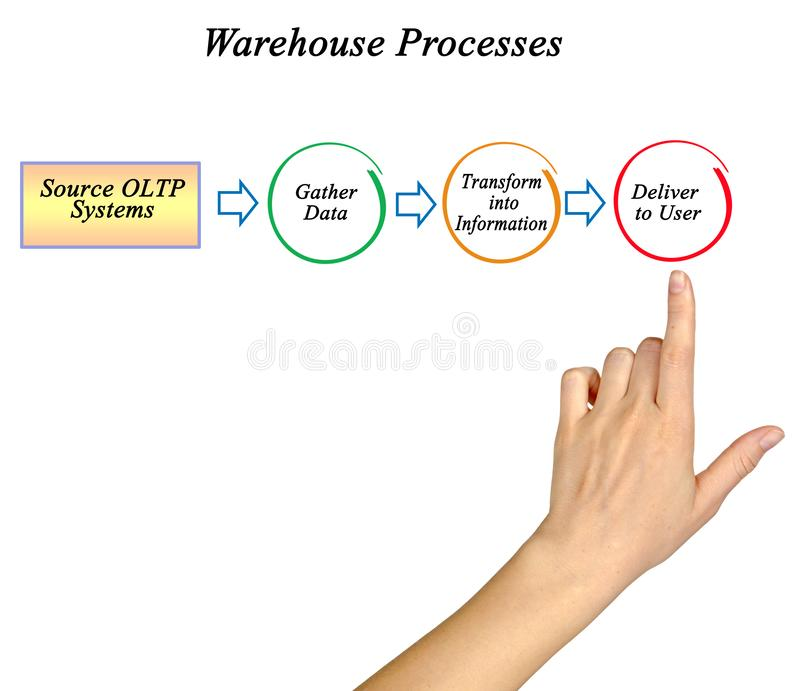 Warehouse information processes royalty free stock photo