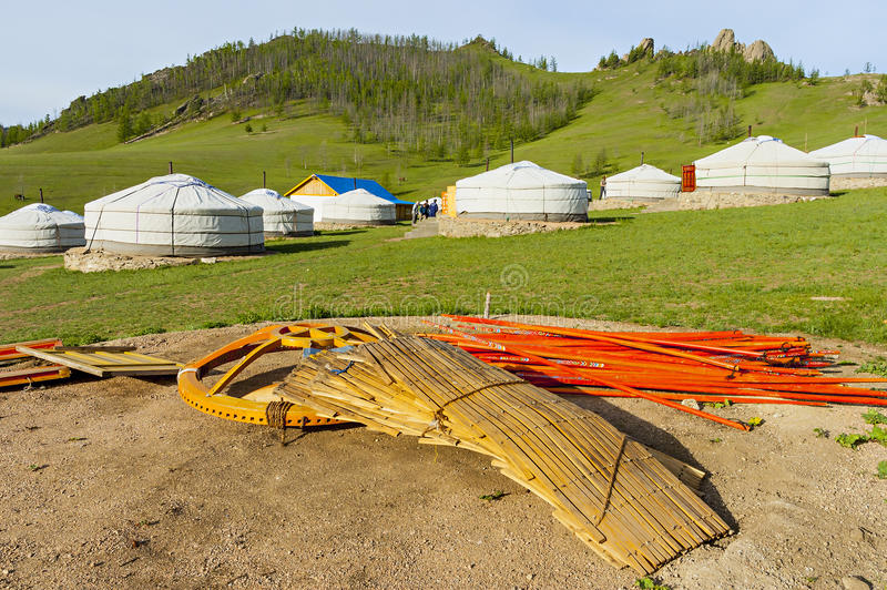 Components of a yurt royalty free stock photos