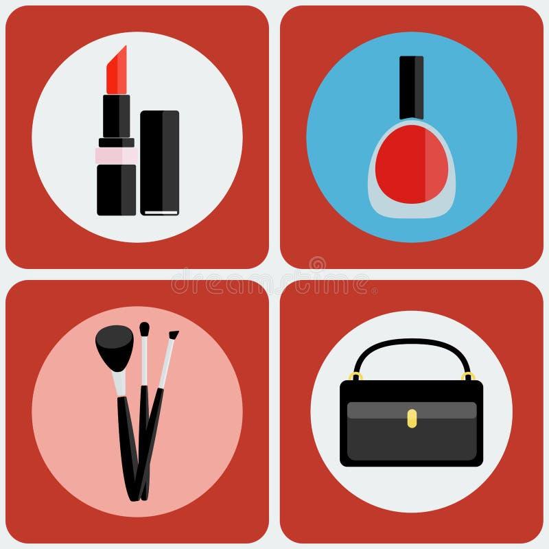 Componga el sistema colorido del icono de las herramientas stock de ilustración