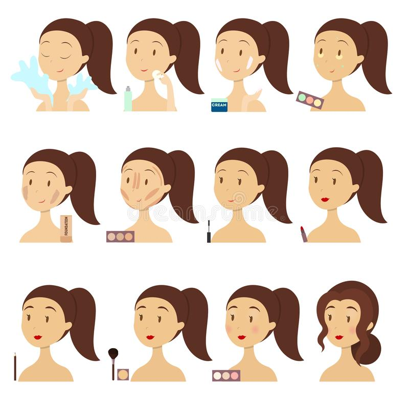 Componga las etapas stock de ilustración