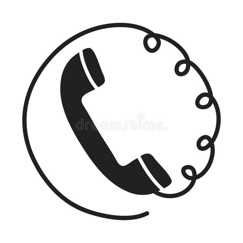 Componga a mano l'icona piana del telefono su fondo bianco, illust di riserva di vettore royalty illustrazione gratis