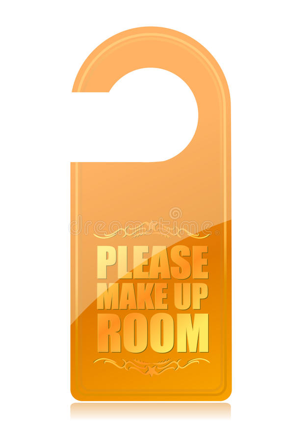 Componga por favor la muestra del hotel del sitio stock de ilustración