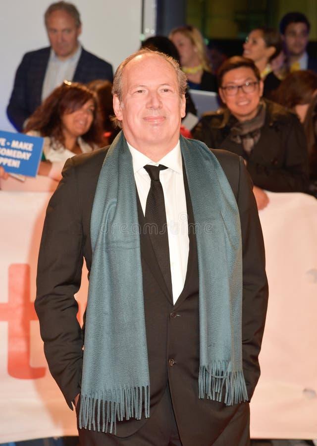 Componist Hans Zimmer bij `-Weduwen` première in Toronto royalty-vrije stock afbeeldingen