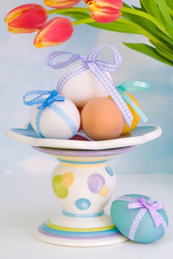 Comport dos ovos de Easter fotografia de stock