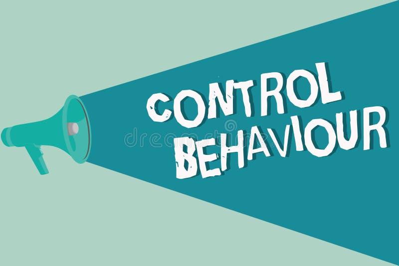 Comportamento de controle da escrita do texto da escrita Exercício do significado do conceito da influência e da autoridade sobre ilustração do vetor