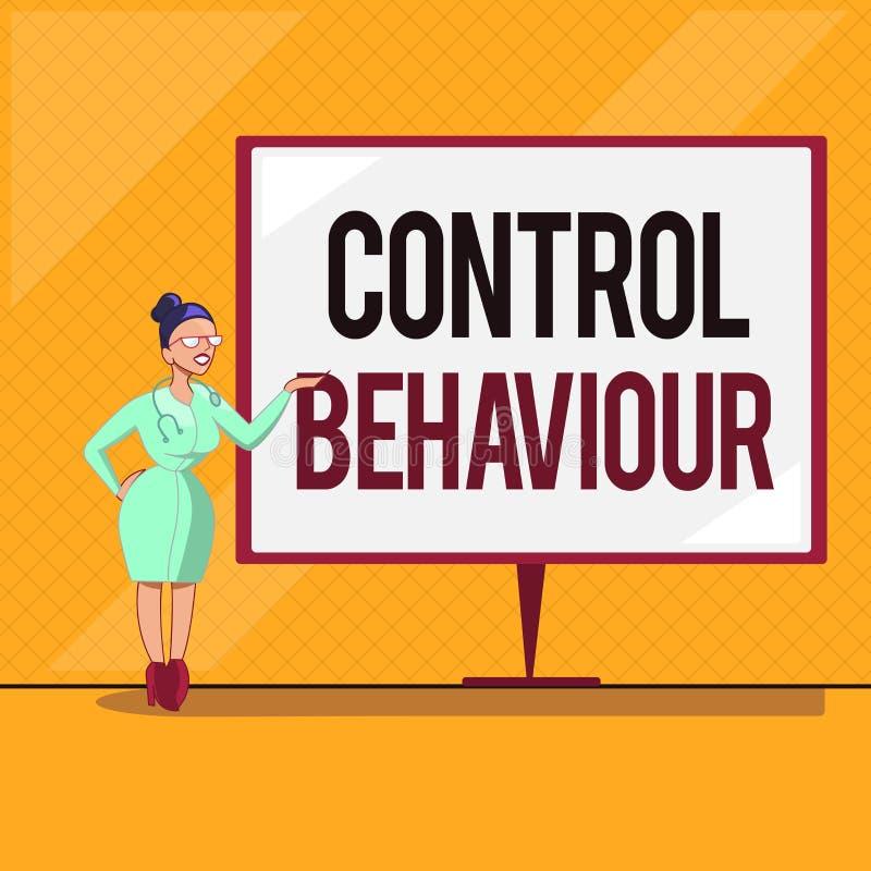 Comportamento de controle do texto da escrita Exercício do significado do conceito da influência e da autoridade sobre a conduta  ilustração stock