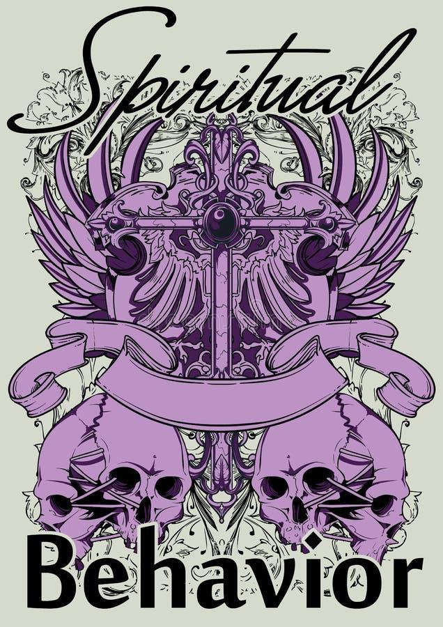 Comportamento espiritual ilustração stock