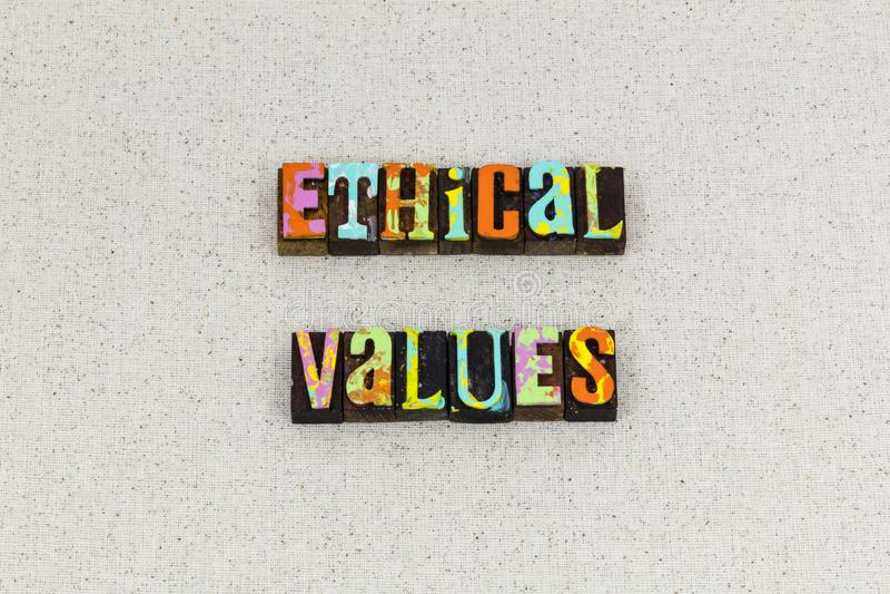 Comportamento etico di principi di etica di valori fotografie stock libere da diritti