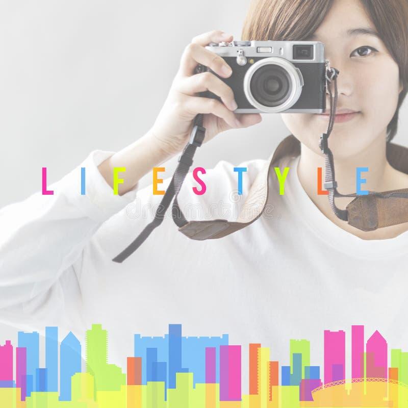 Comportamento Live Your Life Concept di indipendenza di stile di vita fotografia stock libera da diritti