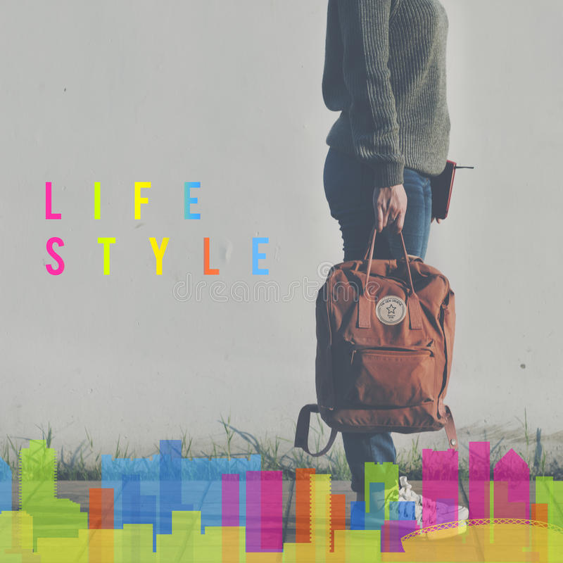 Comportamento Live Your Life Concept di indipendenza di stile di vita fotografie stock