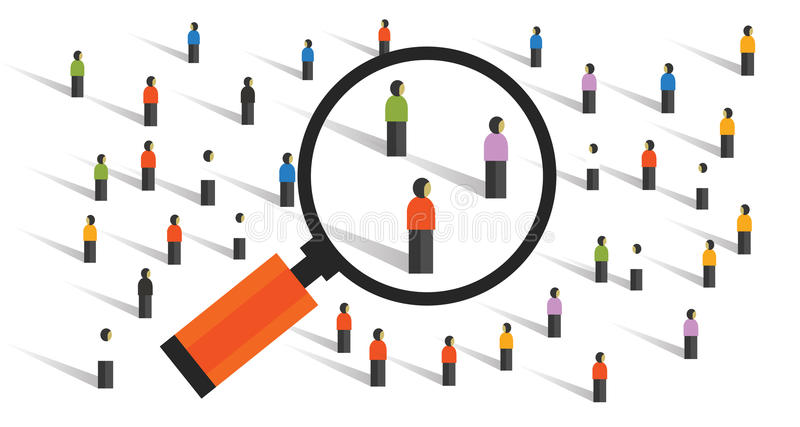Comportamentos de multidão que medem a pesquisa social da população da experiência das estatísticas de amostra da sociedade ilustração stock