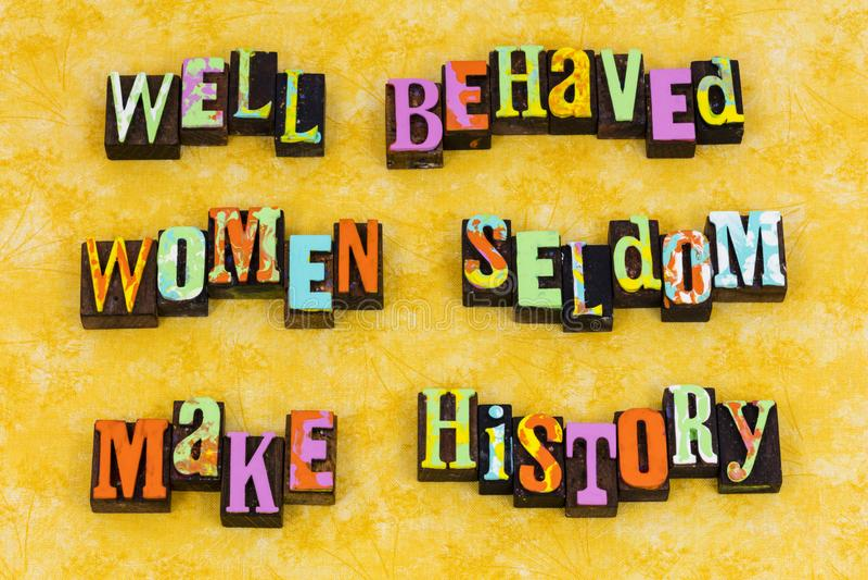 Comporte-se o feminismo da liderança do comportamento das mulheres foto de stock royalty free