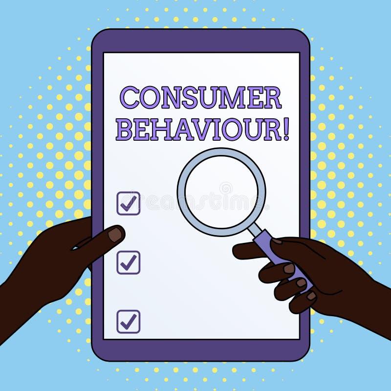 Comportement du consommateur des textes d'?criture de Word Concept d'affaires pour les décisions que l'apparence prennent pour ac illustration libre de droits