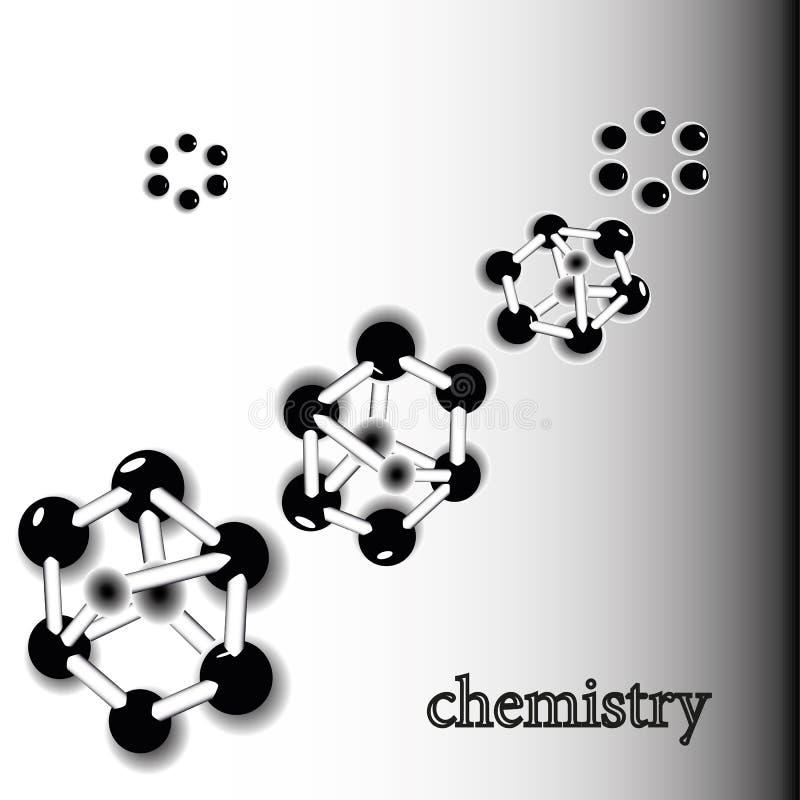 Composé atomique des molécules d'ADN illustration de vecteur