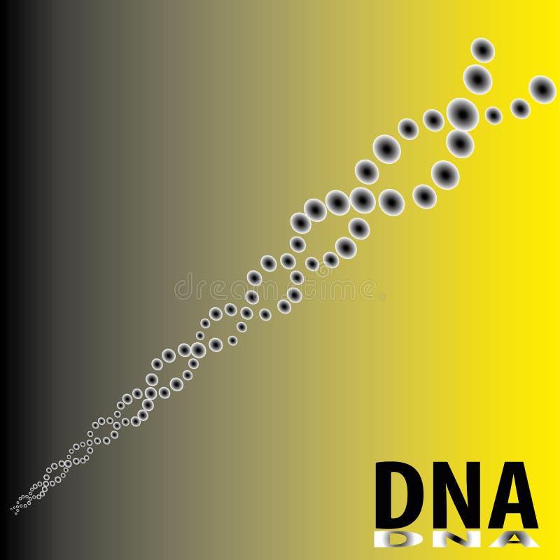 Composé atomique des molécules d'ADN illustration libre de droits