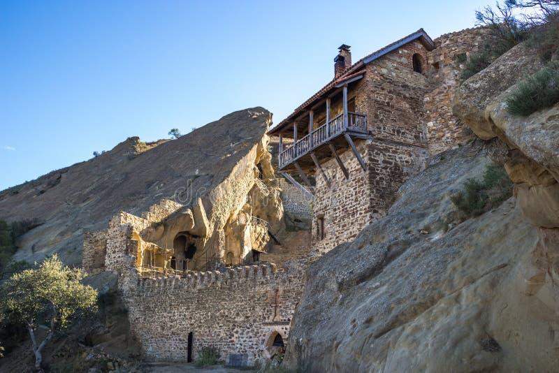 Composé de monastère de David Gareja, la Géorgie Kakheti Vues de Geor images libres de droits